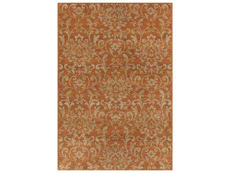 Surya Arabesque Rectangular Rust Area Rug