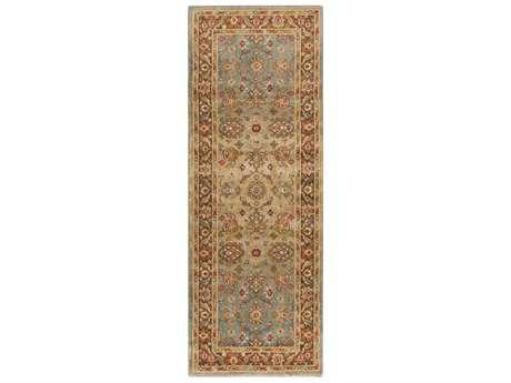 Surya Arabesque 2'7'' x 7'3'' Rectangular Tan, Dark Brown & Burnt Orange Runner Rug