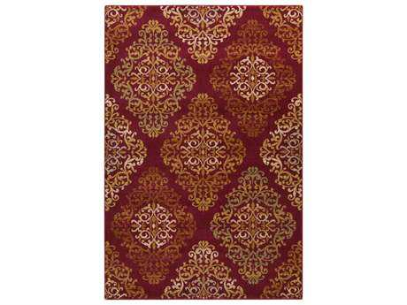 Surya Arabesque Rectangular Cherry Area Rug