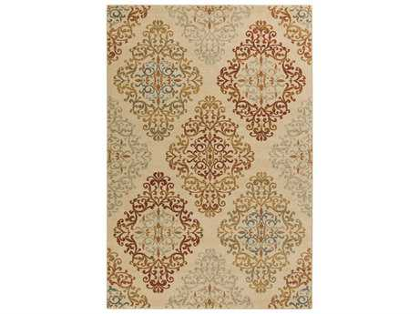 Surya Arabesque Rectangular Olive Area Rug