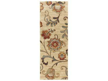 Surya Arabesque 2'7'' x 7'3'' Rectangular Beige, Camel & Charcoal Runner Rug