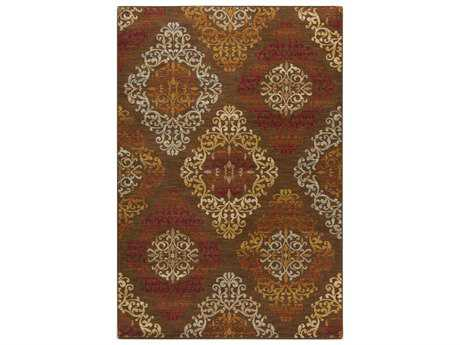 Surya Arabesque Rectangular Mocha Area Rug