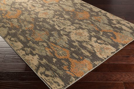 Surya Arabesque Rectangular Charcoal Area Rug