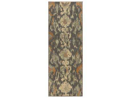 Surya Arabesque 2'7'' x 7'3'' Rectangular Charcoal Runner Rug