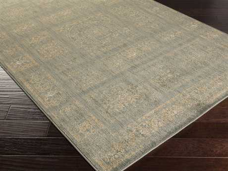 Surya Arabesque Rectangular Olive & Charcoal Area Rug
