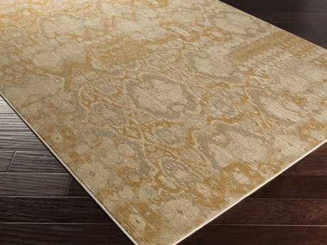 Surya Arabesque Rectangular Gold Area Rug