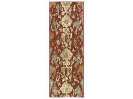 Surya Arabesque 2'7'' x 7'3'' Rectangular Burgundy Runner Rug