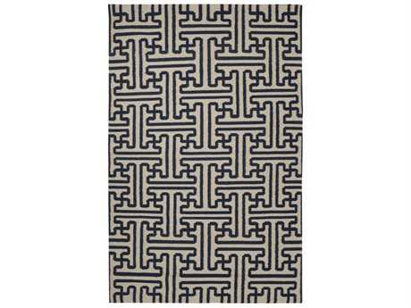 Surya Archive Rectangular Black Area Rug