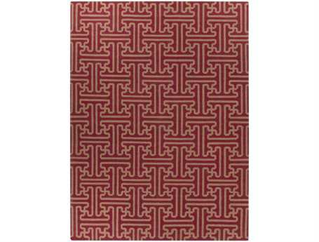 Surya Archive Rectangular Red Area Rug