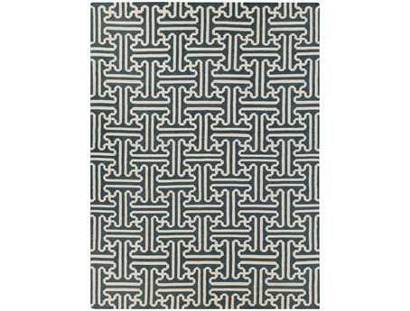 Surya Archive Rectangular Gray Area Rug