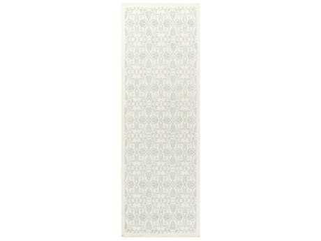 Surya Adeline 2'6'' x 8' Rectangular Sea Foam & Cream Runner Rug