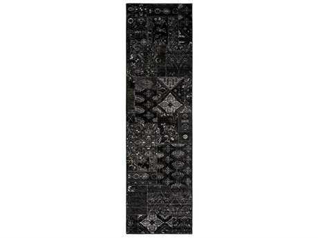 Surya Amadeo 2'3'' x 7'10'' Rectangular Black, Camel & Taupe Runner Rug