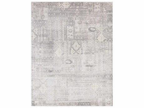 Surya Amadeo Rectangular Silver Gray, Medium Gray & White Area Rug