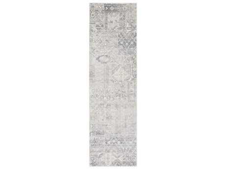 Surya Amadeo 2'3'' x 7'10'' Rectangular Silver Gray, Medium Gray & White Runner Rug