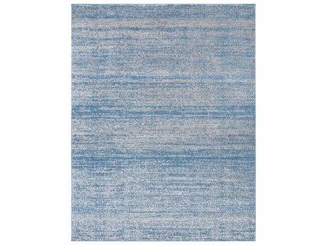 Surya Amadeo Rectangular Bright Blue & Medium Gray Area Rug