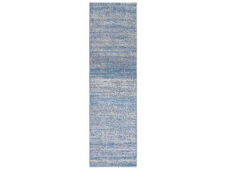Surya Amadeo 2'3'' x 7'10'' Rectangular Bright Blue & Medium Gray Runner Rug
