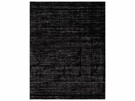 Surya Amadeo Rectangular Black & Medium Gray Area Rug