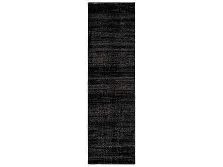 Surya Amadeo 2'3'' x 7'10'' Rectangular Black & Medium Gray Runner Rug