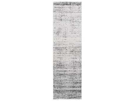 Surya Amadeo 2'3'' x 7'10'' Rectangular Light Gray, Charcoal & Black Runner Rug