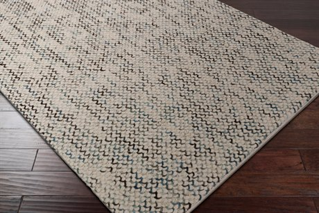 Surya Avera Rectangular Camel, Pale Blue & Dark Green Area Rug