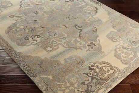 Surya Ashville Rectangular Cream, Taupe & Dark Brown Area Rug