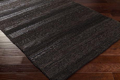 Surya Aija Rectangular Black Area Rug