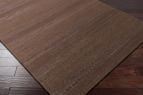 Surya Aija Rectangular Dark Brown & Black Area Rug