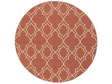 Surya Alfresco Round Rust & Khaki Area Rug