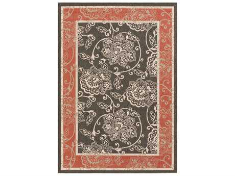 Surya Alfresco Rectangular Black, Rust & Cream Area Rug