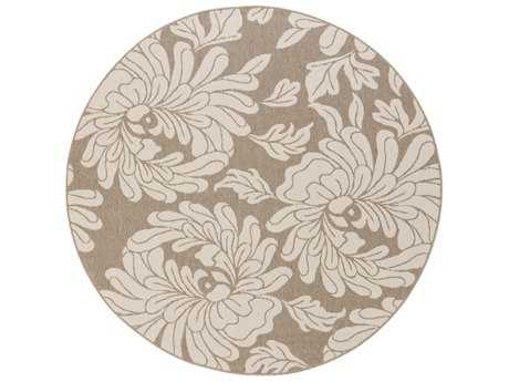 Surya Alfresco Round Cream & Camel Area Rug