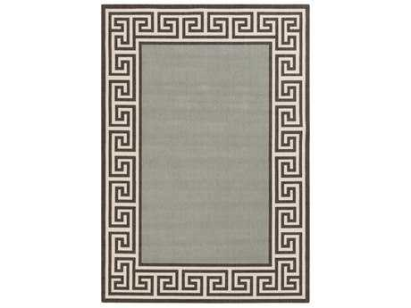 Surya Alfresco Rectangular Sage, Black & Cream Area Rug