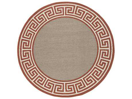 Surya Alfresco Round Rust, Camel & Cream Area Rug