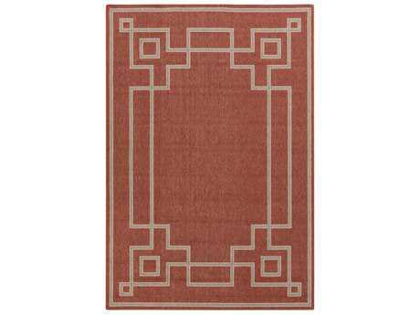Surya Alfresco Rectangular Rust, Camel & Cream Area Rug