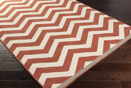 Surya Alfresco Rectangular Rust & Khaki Runner Rug