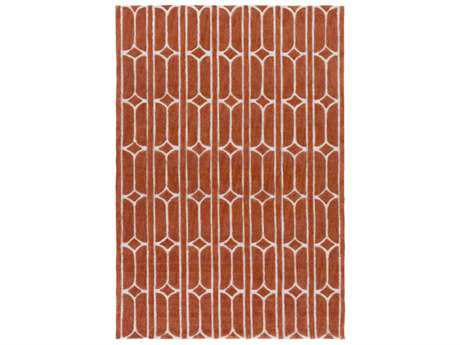 Surya Alexandra Rectangular Bright Orange, Burnt Orange & Khaki Area Rug