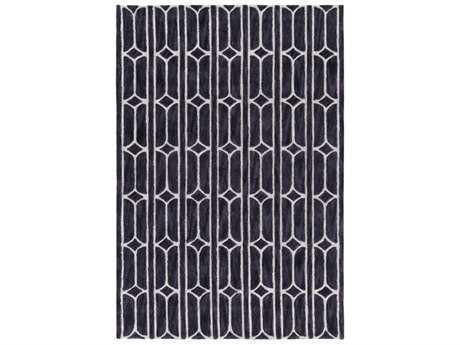 Surya Alexandra Rectangular Medium Gray, Black & Khaki Area Rug