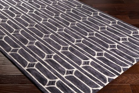 Surya Alexandra Rectangular Medium Gray, Black & Khaki Area Rug