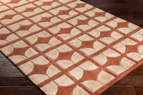 Surya Alexandra Rectangular Camel, Rust & Tan Area Rug