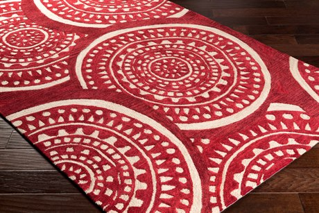 Surya Alexandra Rectangular Dark Red, Burgundy & Khaki Area Rug