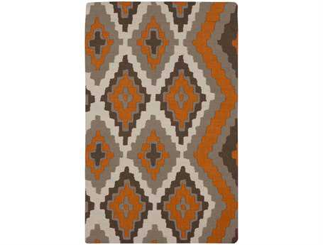 Surya Alameda Rectangular Orange Area Rug