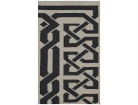 Surya Alameda Rectangular Black Area Rug