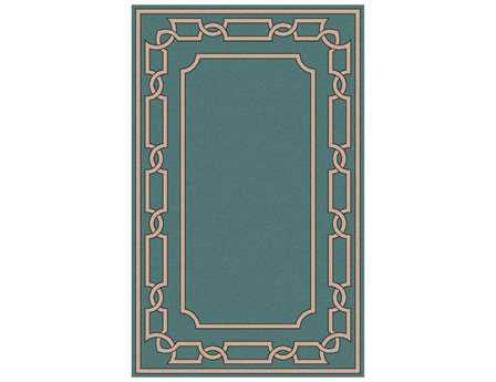 Surya Alameda Rectangular Teal Area Rug