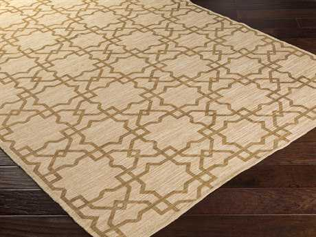 Surya Amarillo Rectangular Beige & Gold Area Rug