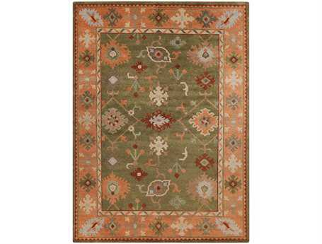 Surya Anastacia Rectangular Green Area Rug