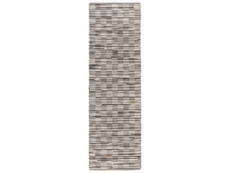 Surya Apis 2'6'' x 8' Rectangular Light Gray & Chocolate Runner Rug