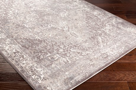 Surya Apricity Rectangular Medium Gray, White & Taupe Area Rug