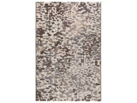 Surya Apricity Rectangular White, Medium Gray & Taupe Area Rug