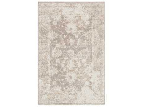 Surya Apricity Rectangular White, Beige & Medium Gray Area Rug