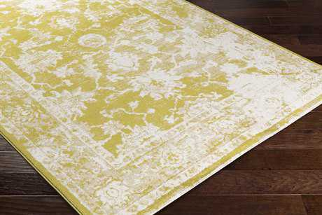 Surya Apricity Rectangular White, Bright Yellow & Beige Area Rug