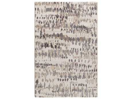 Surya Apricity Rectangular White, Medium Gray & Cream Area Rug